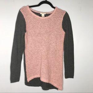 Sundance asymmetrical colorblock mohair sweater